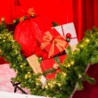 Stock Photo: Gifts in santsleigh