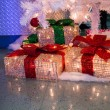 Stock Photo: Presents under tree
