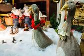 Christmas geese in display — Stock fotografie