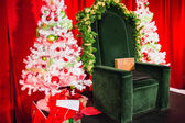 Bright cheery santa seat — Stock Photo