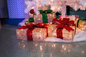 Presents under tree — Stock Photo
