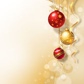 Background with Christmas baubles — 图库照片