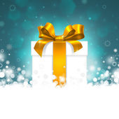 Gift box with gold ribbon — Stock Photo