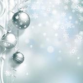 Vánoční pozadí s míčky — Stock fotografie