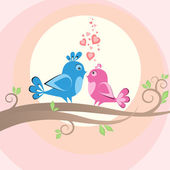 Birds on the tree — Stock Photo