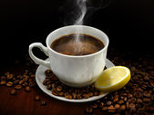 Warm cup of coffee — Stock Photo