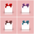 Stock Photo: Gift boxes with colorful ribbons