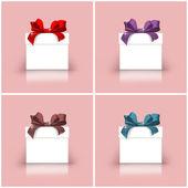 Geschenk-boxen mit bunten bändern — Stockfoto