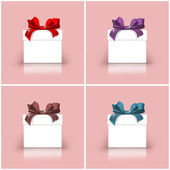 Gift boxes with colorful ribbons — Photo