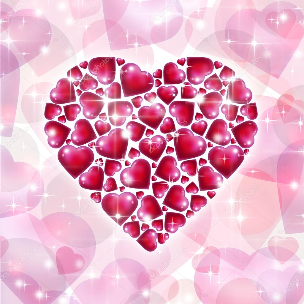 Valentine's day background with hearts — Stock Photo #16892199