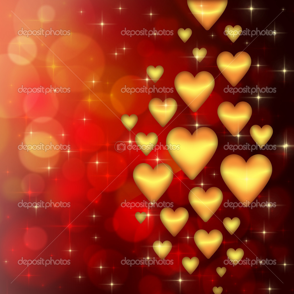 Valentine's day background with many hearts  Stock Photo #17010211