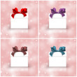 Gift boxes with colorful ribbons — Stock Photo