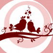 Two birds in love — 图库照片