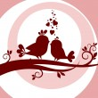 Stock Photo: Two birds in love