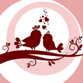 Two birds in love — Stock Photo