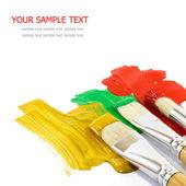 Artist brushes — Stock Photo