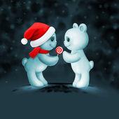 Two teddy bears in love — Foto Stock