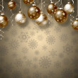 Christmas background with balls — Stock Photo #35636973