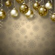 Christmas background with balls — Stock Photo #35636983