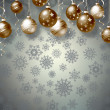 Christmas background with balls — Stock Photo #35636997