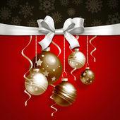 Kerstmis achtergrond met ballen — Stockfoto