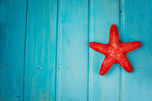 Starfish in blue background — Stock Photo