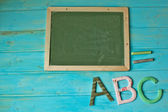 Abc chalkboard — Stockfoto