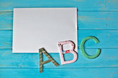Abc sheet — Stock Photo