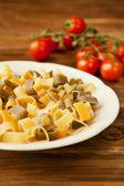 Raw heart pasta — Stock Photo