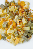 Heart shape pasta — Stock Photo