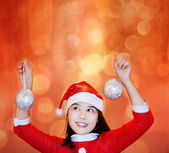 Christmas time girl — Stock Photo