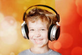 Happy boy with headphones — Stock Photo