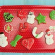 Chirstmas cookies made at home — Stock Photo