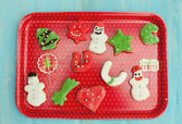 Chirstmas cookies made at home — 图库照片
