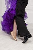 Dancers legs — Stock Photo