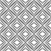 Seamless geometric rhombus pattern black and white — Stock Vector