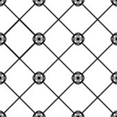 Seamless geometric tile pattern black and white — Stock Vector