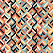 Geometric ethnic zigzag pattern background — Vettoriale Stock
