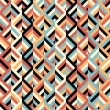 Geometric ethnic zigzag pattern background — Stock vektor