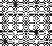 Seamless geometric shape pattern background — Stock Vector