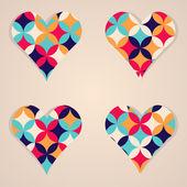 Flower heart illustration for Valentine's Day — Stock Vector