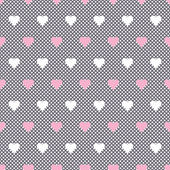 Seamless vector heart pattern background — Stock Vector
