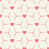 Seamless heart wedding vintage pattern — ストックベクタ