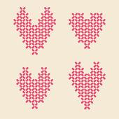 Sevgililer günü için çiçek kalp illüstrasyon — Stok Vektör
