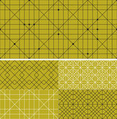 Seamless vector set patterns background — Stock Vector
