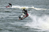 Jumping on jetski — Stock Photo