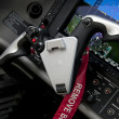 Stock Photo: Embraer Aircraft steering wheel/yoke