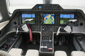 Embraer phenom 100 interior, cockpit view — Stock Photo