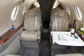 Business-jet interior. Premier 1 — Stock Photo