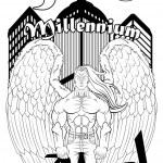 Third millennium angel — Stock Vector #20979775